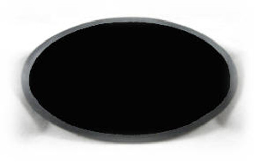 "M-AB-3.75x5OvalBEP: LaserGrade Absolute Black Marble, 3.75"" x 5"" x 7 to 8mm, Oval, w/Rounded Edge Polished,(5F)"