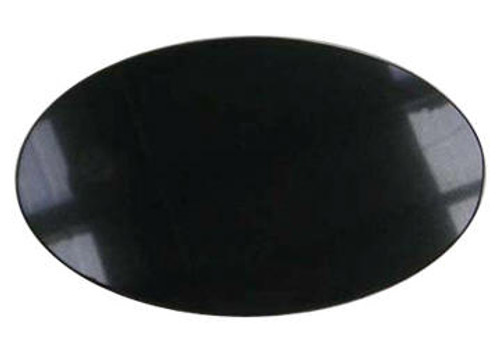 "M-AB-5x7OvalBASP: LaserGrade Absolute Black Marble, 5"" x 7"" x 7mm, Oval Beveled Top Surface,  ASP, All Surfaces Polished (6F)"