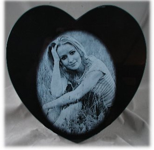 M-AB-12HeartASP/:  LaserGrade Absolute Black Marble, 12 inch Heart x 8mm, ASP, All Surfaces Polished (6F) - Case of 10