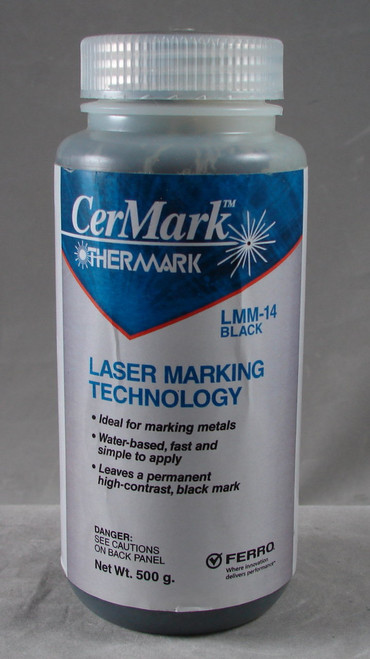 CerMark LMM6000.250: Black,  250 gram (paste), liquid for Metal Marking, High Stick Compound for Brightly Polished Metals