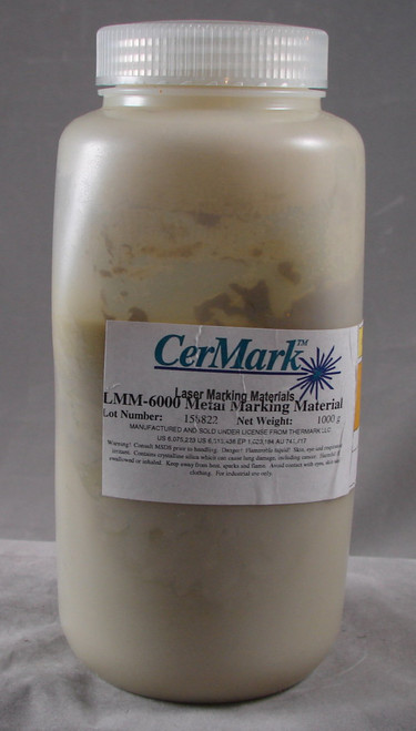 CerMark LMM6000.1000: Black,  1000 gram (paste), liquid for Metal Marking, High Stick Compound for Brightly Polished Metals