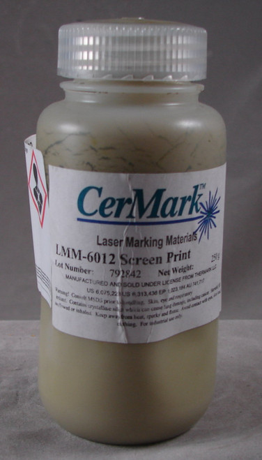 CerMark LMM6012.250: Black,  250 gram, liquid for Metal Marking, Screen Printable