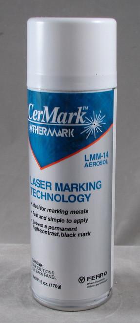 LMM14.A6: Black,  6 ounce Aerosol  Spray for Metal Marking