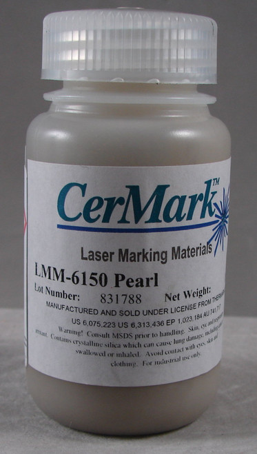 LMM6150.100: Pearl White, 100 gram (paste) liquid Pearl White Mark for Stainless Stee