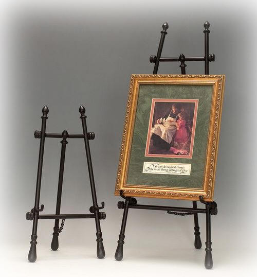 924B: Small Black Floor Easel