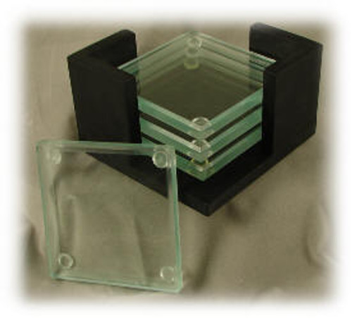 H147   Glass Coaster Set