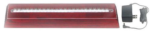 "RWB-4x6GGA: Rosewood Luminary Base and Green Glass Acrylic, 4"" wide x 6"" tall glass"
