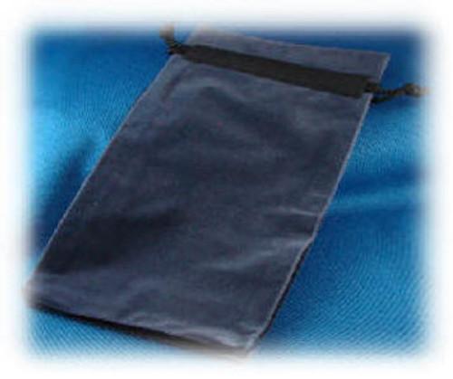 "BV-5510:  Blue Velvetine Draw-Cord Pouch, 5.5"" x 10""  x 1"""