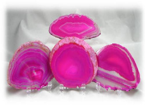 Pink-Violet, 3A, Agate Slices