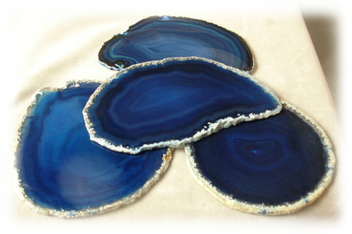 Blue, 3A, Agate Slices