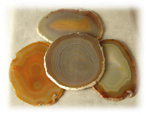 Natural, 3A, Agate Slices