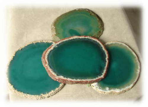 Green, 3A, Agate Slices
