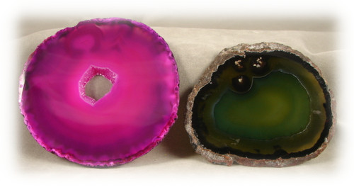 Test Agate Samples, Colors Vary