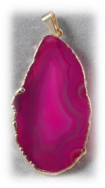 16097 Pink Agate Pendant