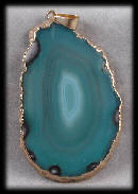 1216014, Green Agate Pendant