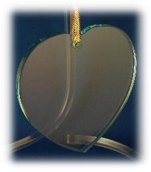 Heart Shape Ornament with Velvet Bag