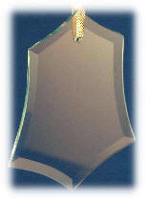 Holly Leaf/Hex Shape Ornament with Velvet Bag