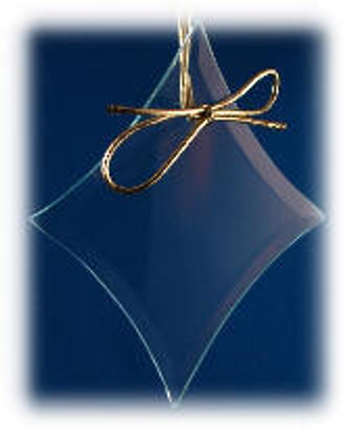 Diamond Shape Ornament with Velvet Bag