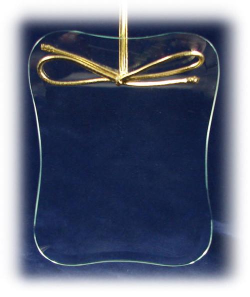 Rounded Corner Picture Frame Shape Ornament with Velvet Bag