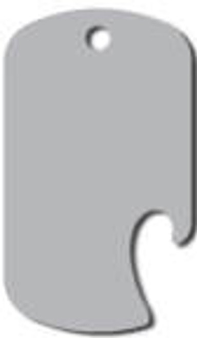 5 - Silver - GI Style Anodized Aluminum Dog Tags w/Opener