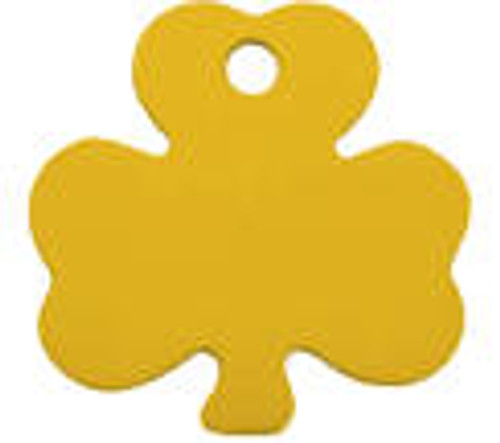 Gold Shamrock Tag