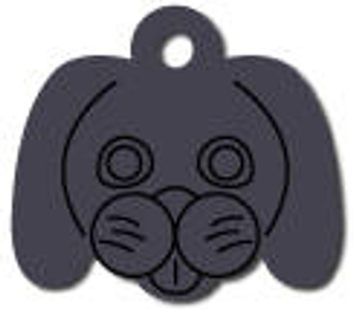 Black Dog Face Tag