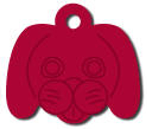 Red Dog Face Tag