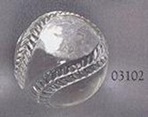 Crystal Baseball Paper Weight