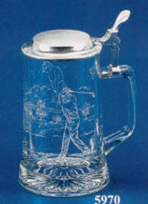 Glass Golfer Stein