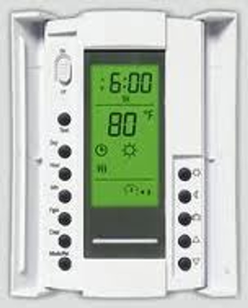 aube by Honeywell Thermostat model TH115-AF-120S (doors open)