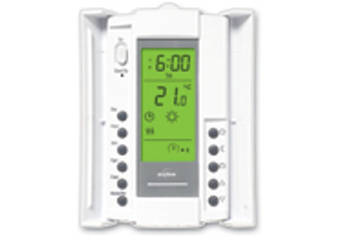 aube by Honeywell GFCI Protected Thermostat model TH115-AF-GA (doors open)