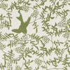 Gift Wrap - Swallow - Green on Cream