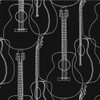 Gift Wrap - Guitars - Black
