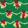Gift Wrap - Garland - Green/Gold/Red