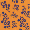 Gift Wrap - Scandinavian Holiday - Orange/Blue