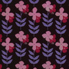 Gift Wrap - Flower Power - Brown/Pink/Magenta