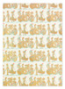 Gift Wrap - Day of the Dead - Cream/Metallic Gold