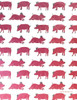 Gift Wrap - Pigs - White/Pink/Metallic Silver