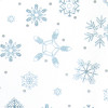 Gift Wrap - Snowflakes - White/Metallic Light Blue/Metallic Silver