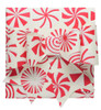 Paper Bow Topper - Peppermint Cream/Red