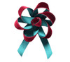 Velvet Satin Flower Topper - Wine Velvet/Hunter Satin