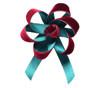 Velvet Satin Flower Topper - Wine Velvet/Hunter Satin