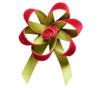Velvet Satin Flower Topper - Rose Velvet/Lime Satin