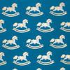 Rocking Horse – Navy/Cream & Gold Metallic