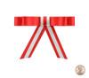 Overlay Bow Topper - Red/Bone