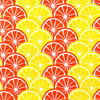 Gift Wrap - Lemons and Oranges - Cream/Metallic Yellow and Orange