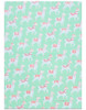 Gift Wrap - Llamas - Mint Green/White