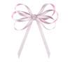Center Knot Doppio Bow: Rose Quartz Topper