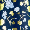 Winter Floral - Navy & Gold foil,  White & Ice Blue Metallic
