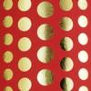 Polka Dots - Red & Gold foil